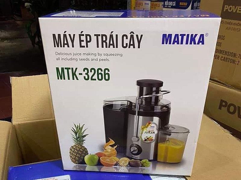 Máy Ép Trái Cây Matika MTK-3266 Công Suất Lớn 600W Lưỡi Dao Inox Bền Bỉ (500ml)-Hàng Chính Hãng