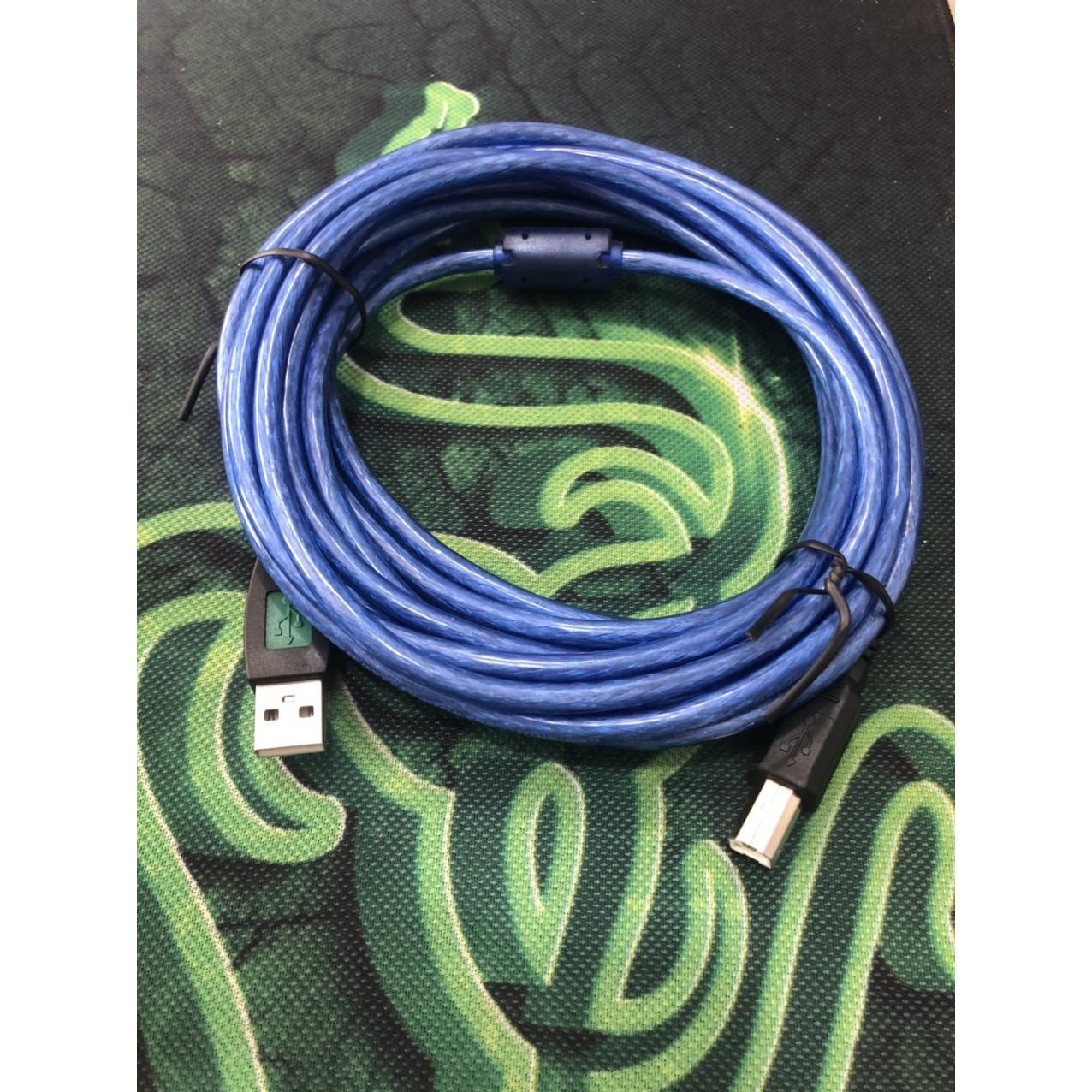 Cáp usb máy in màu xanh dài 5 mét