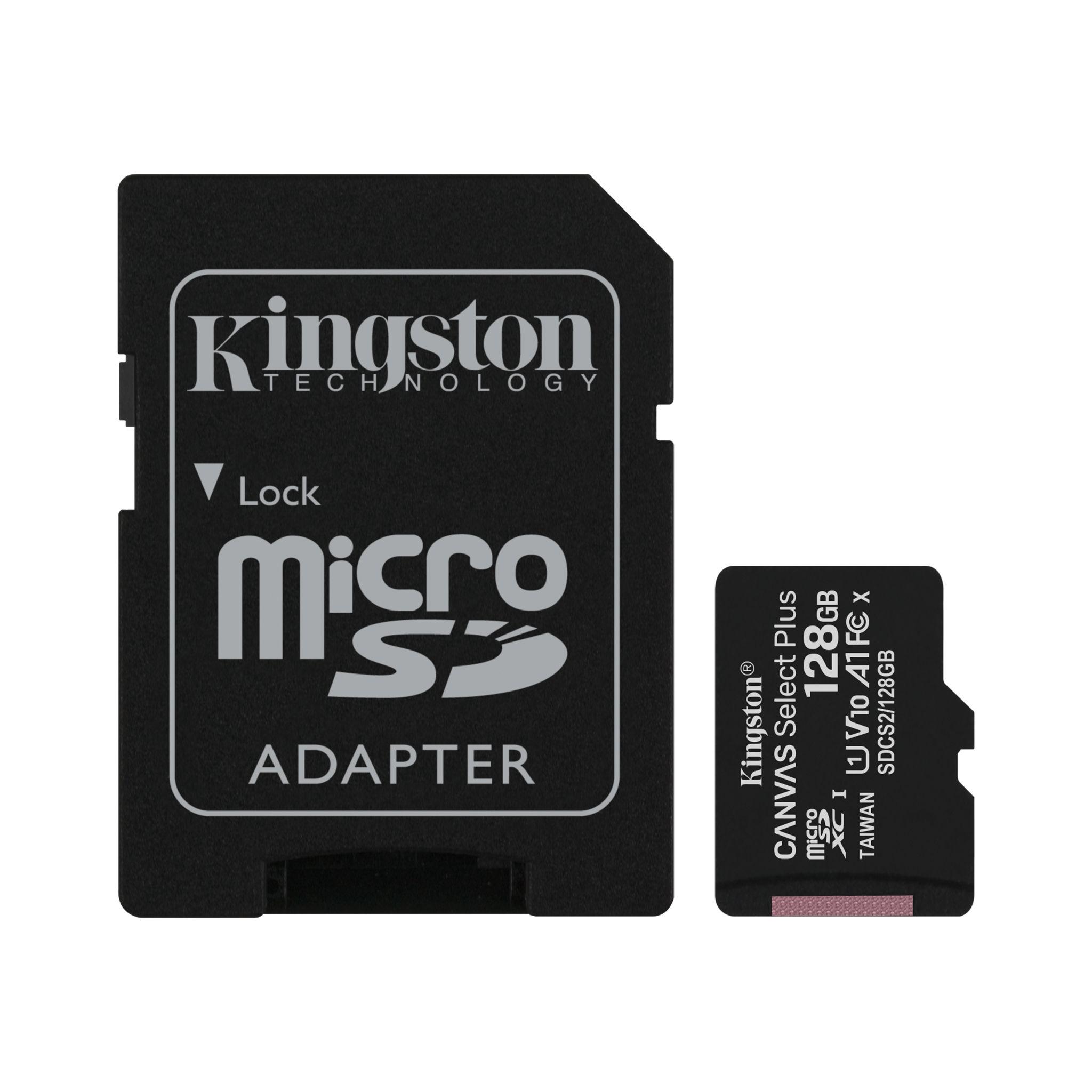 Thẻ nhớ Kingston 128GB microSDHC Canvas Select 100R CL10 Chính Hãng