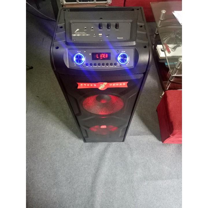 Loa Kéo Karaoke MALATA 9824 ( Mẫu Đặc Biệt Bas Đôi 3 tấc ) - Hàng chính hãng MALATA