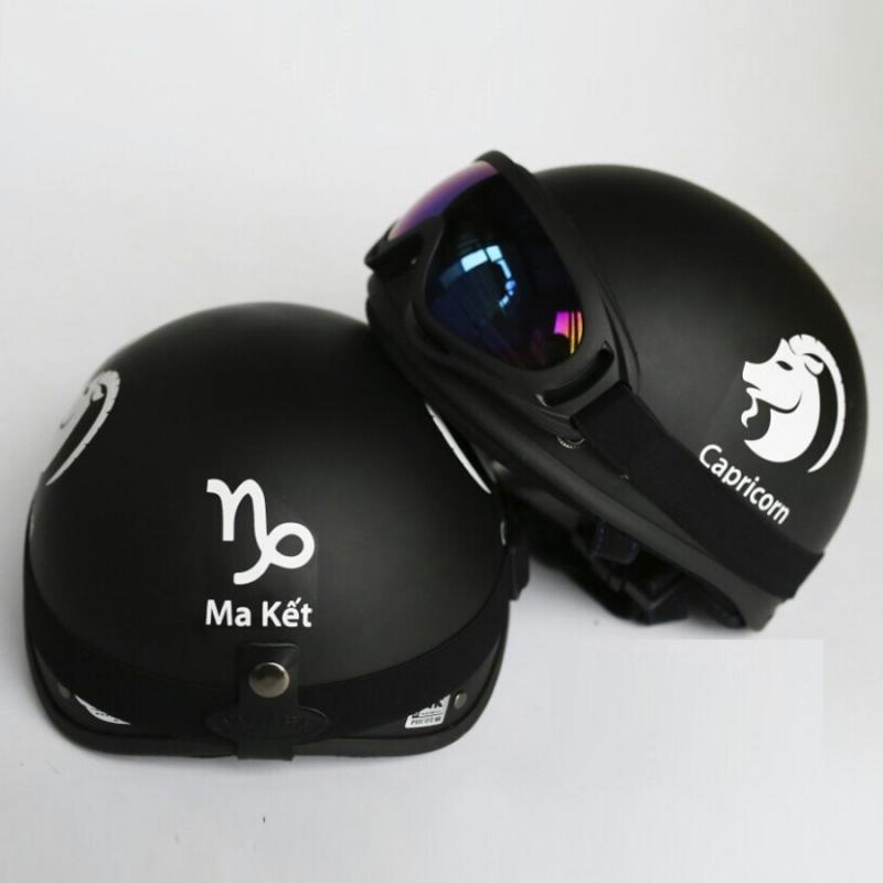 Hình ảnh Mũ Bảo Hiểm Cung Hoàng Đạo + Tặng kính UV chống bụi cao cấp màu ngẫu nhiên