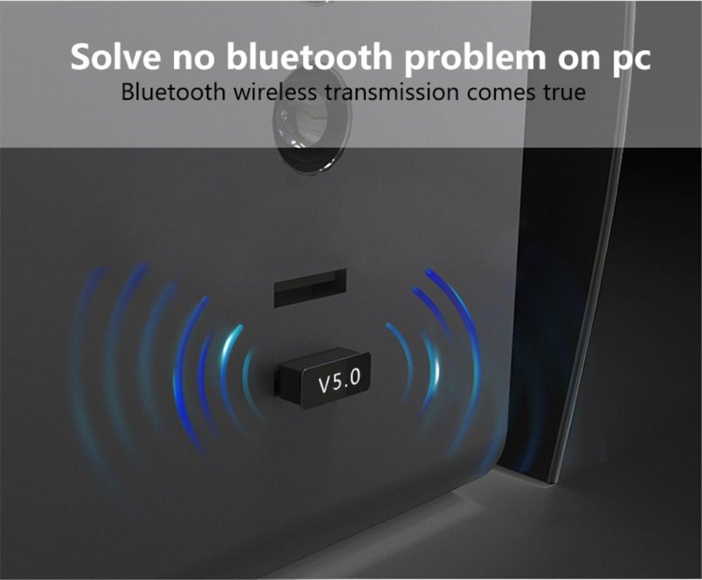 Bộ thu phát không dây Usb bluetooth 5.0 dùng cho máy tính laptop pc - hàng chính hãng