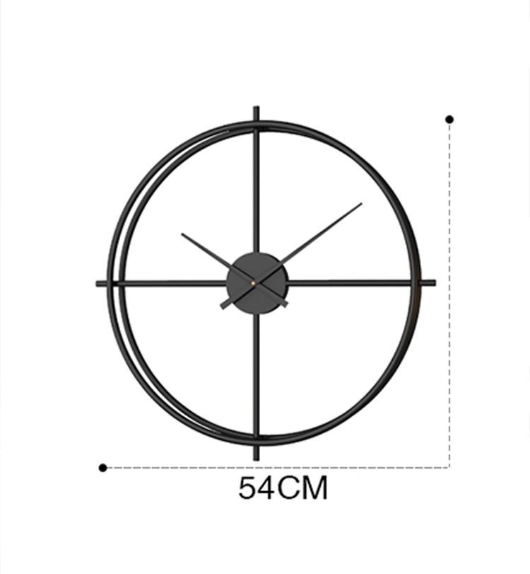 Đồng hồ trang trí không số tối giản - Màu đen