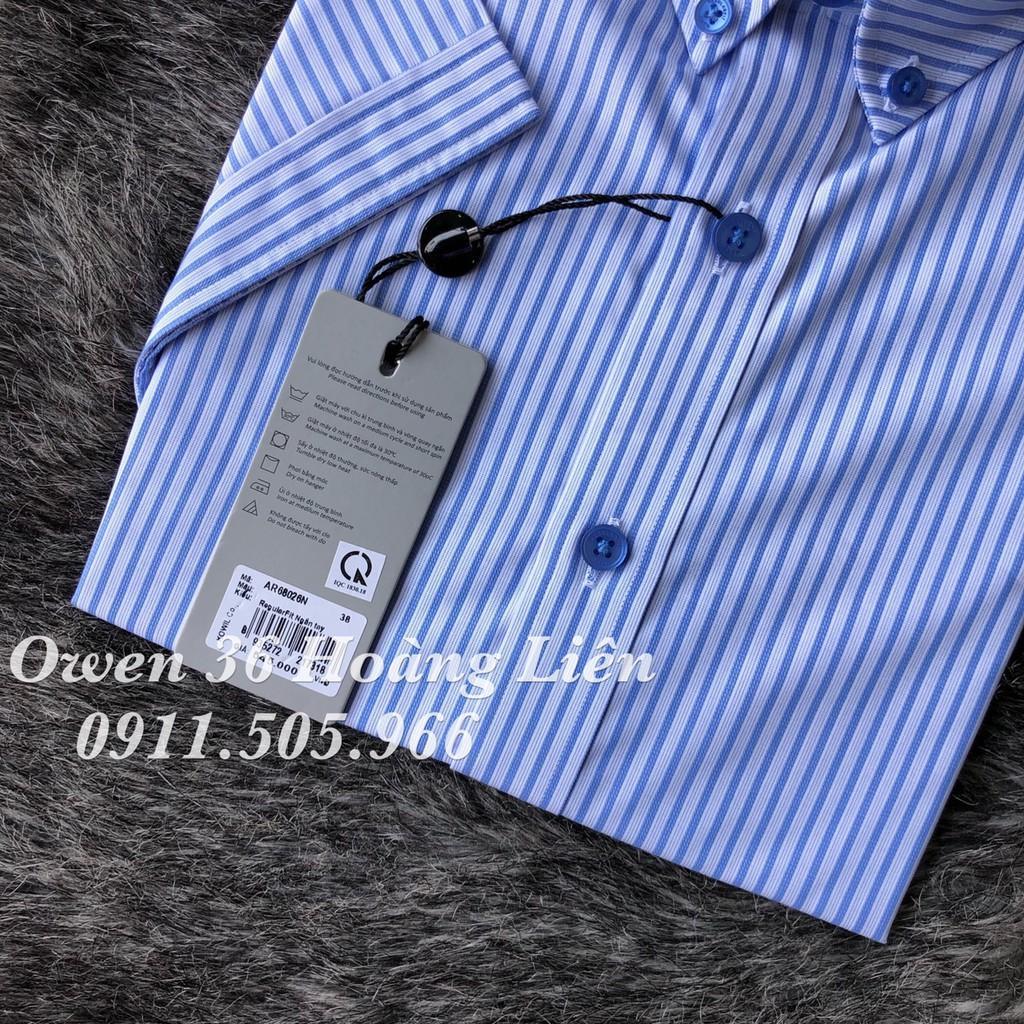 OWEN - Áo sơ mi ngắn tay Owen Regular fit vải nano không nhăn 68026 - Áo sơ mi nam ngắn tay