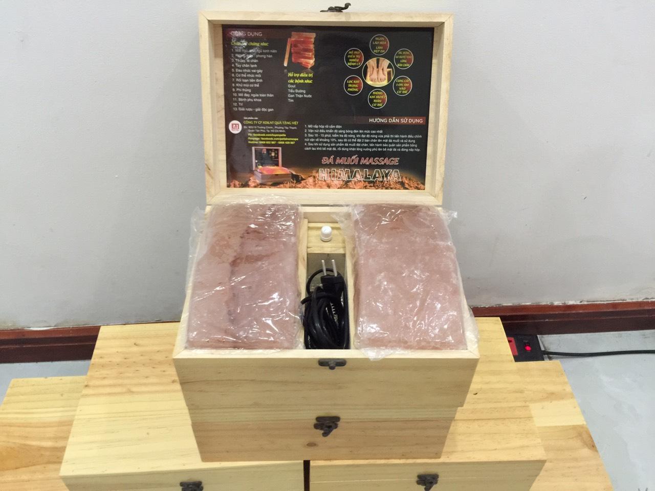 Combo 5 hộp đá muối Massage chân loại thường Size 20x20 cm. Sản phẩm chăm sóc sức khỏe