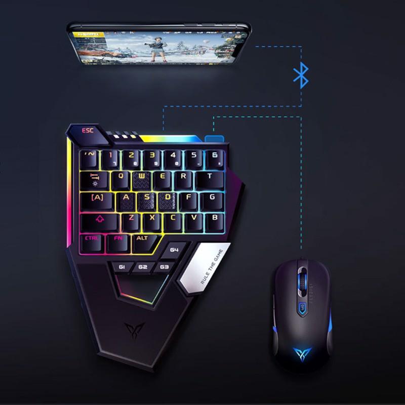 Combo Bàn phím cơ một tay Flydigi D1 dùng cho IOS, Android,PC và Chuột Flydigi M1 (Hàng Chính Hãng - Hàng Nhập Khẩu)