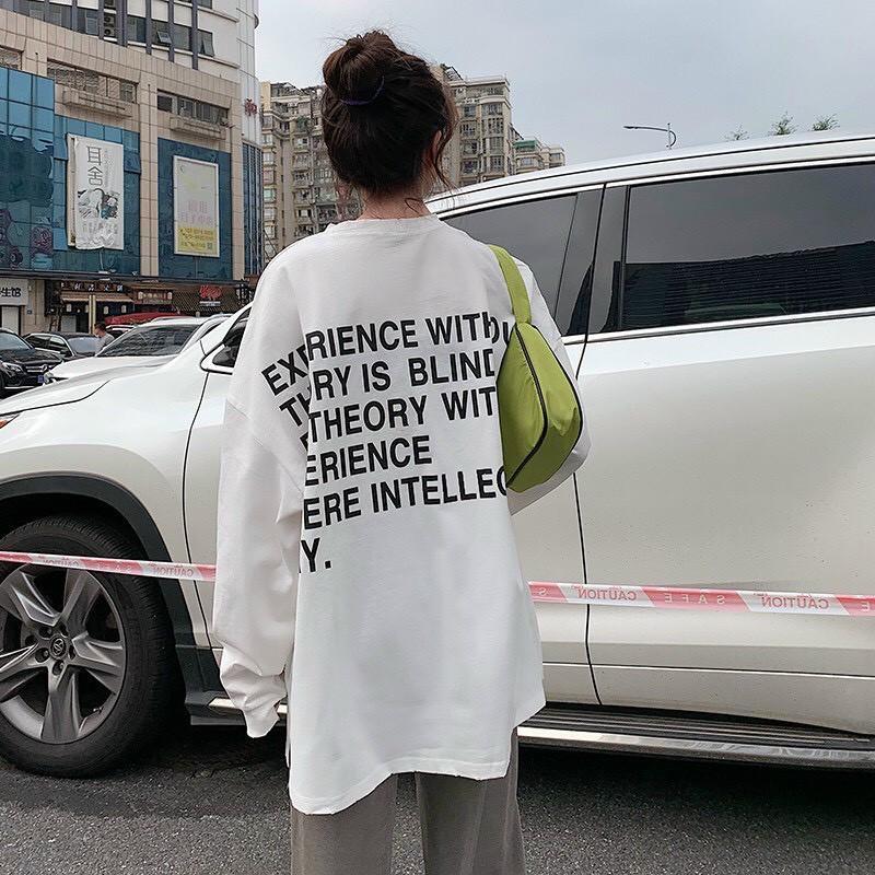 Áo phông, áo thun nam nữ form rộng tay DÀI Unisex MẶT CƯỜI Từ 50-70kg
