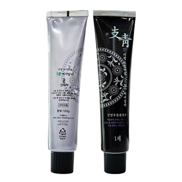 Nhuộm phủ bạc nhanh 1 phút Jichung 1 Minute Hair Color 120g (đen nâu) + Móc khóa