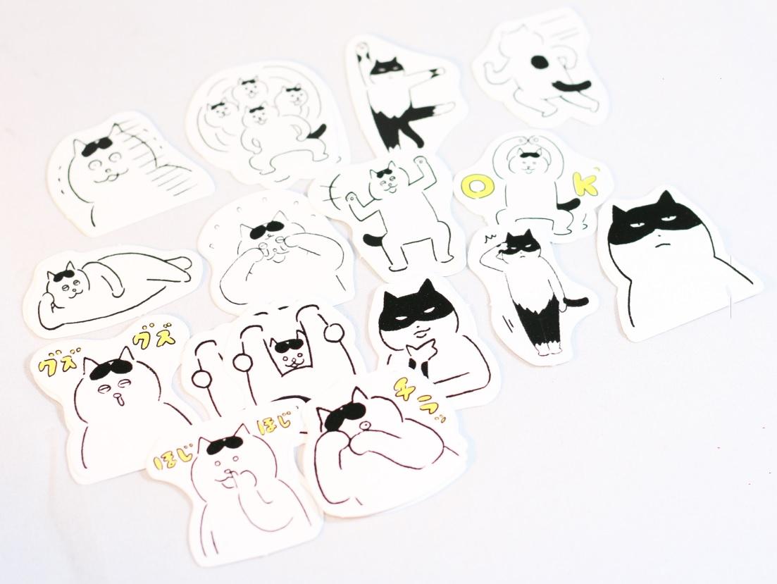 Hộp 45 Miếng Dán Sticker Trang Trí Mèo Ngộ Nghĩnh