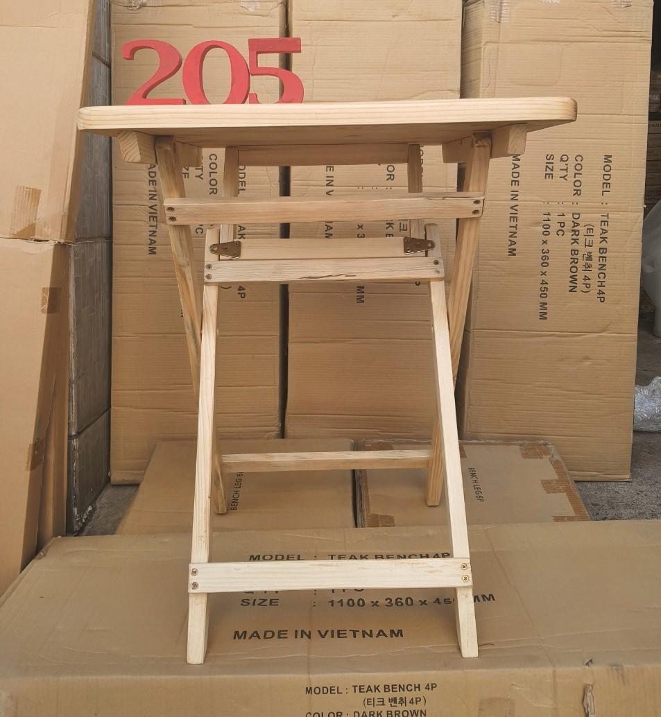 Bàn vuông 60x60x75cm gấp gọn – Bàn trà thông minh - D TABLE NATURAL TC205