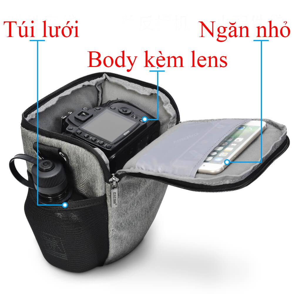 Túi máy ảnh thời trang CA201