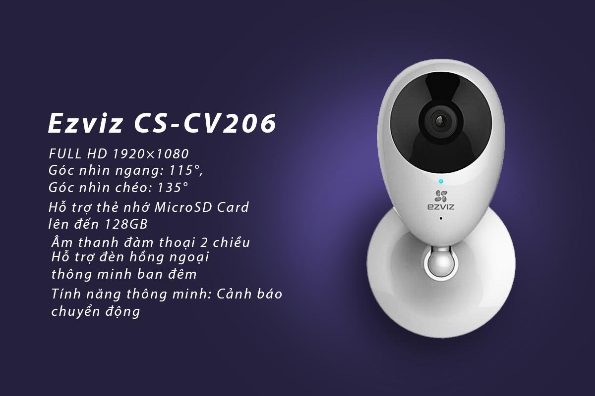 Camera IP Wifi EZVIZ C2C CS-CV206 (1080P) - Hàng chính hãng