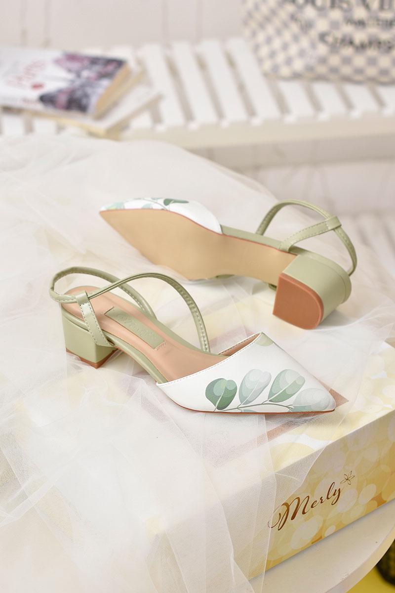 Giày sandal gót thấp Merly 1047HI