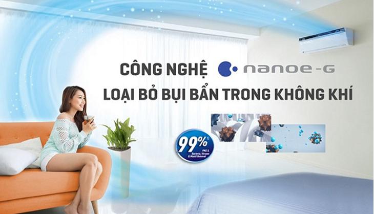 Bộ lọc Nanoe-G giúp lọc bụi tối ưu trên máy lạnh Panasonic