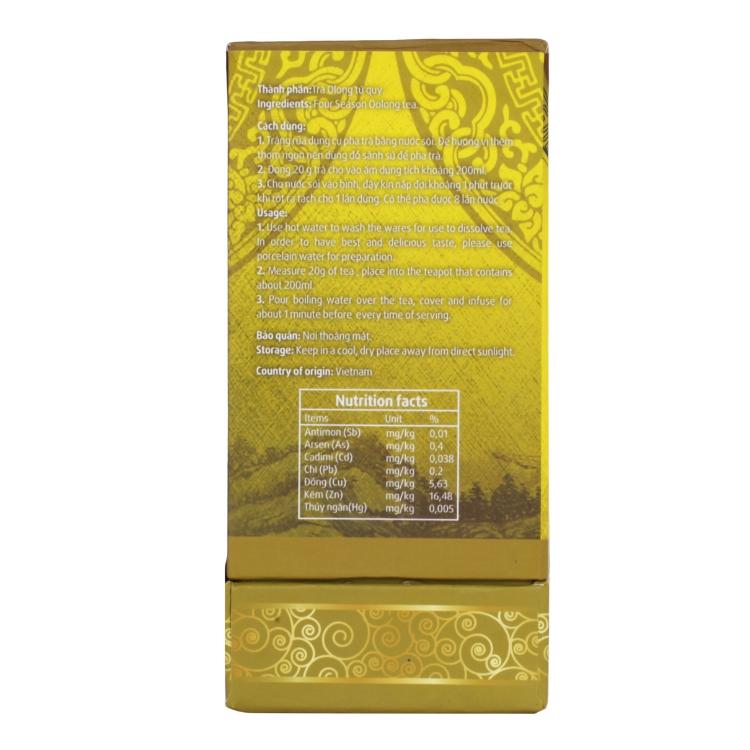 Trà Ô Long Tứ Quý Long Đỉnh (hộp 250 gram)