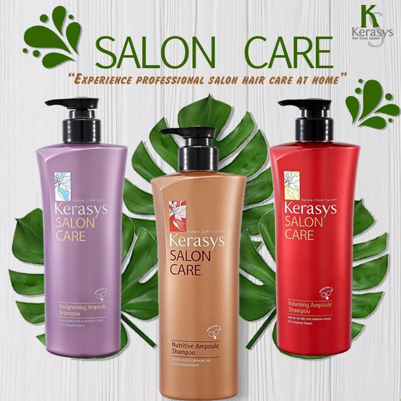 Dầu gội mềm mượt Kerasys Salon Care Straightening Hàn Quốc 600ml - Dành cho tóc thẳng + Tặng kèm móc khoá