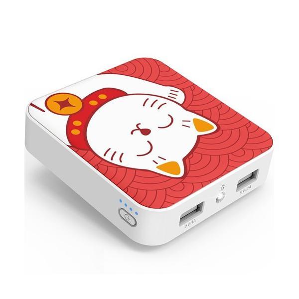Pin dự phòng YOOBAO 10.400mAh Hình mèo chiêu tài đèn LED YB-6024 - Hàng Chính hãng
