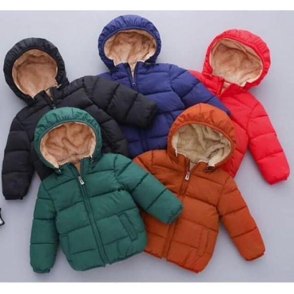 Áo khoác lót lông cừu siêu mềm ấm cho bé (Hàng loại đẹp)
