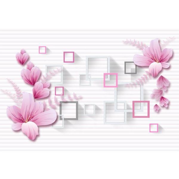 Decal Bóc Dán - Tranh Dán Tường Hoa 3D - T3M--2727-copy