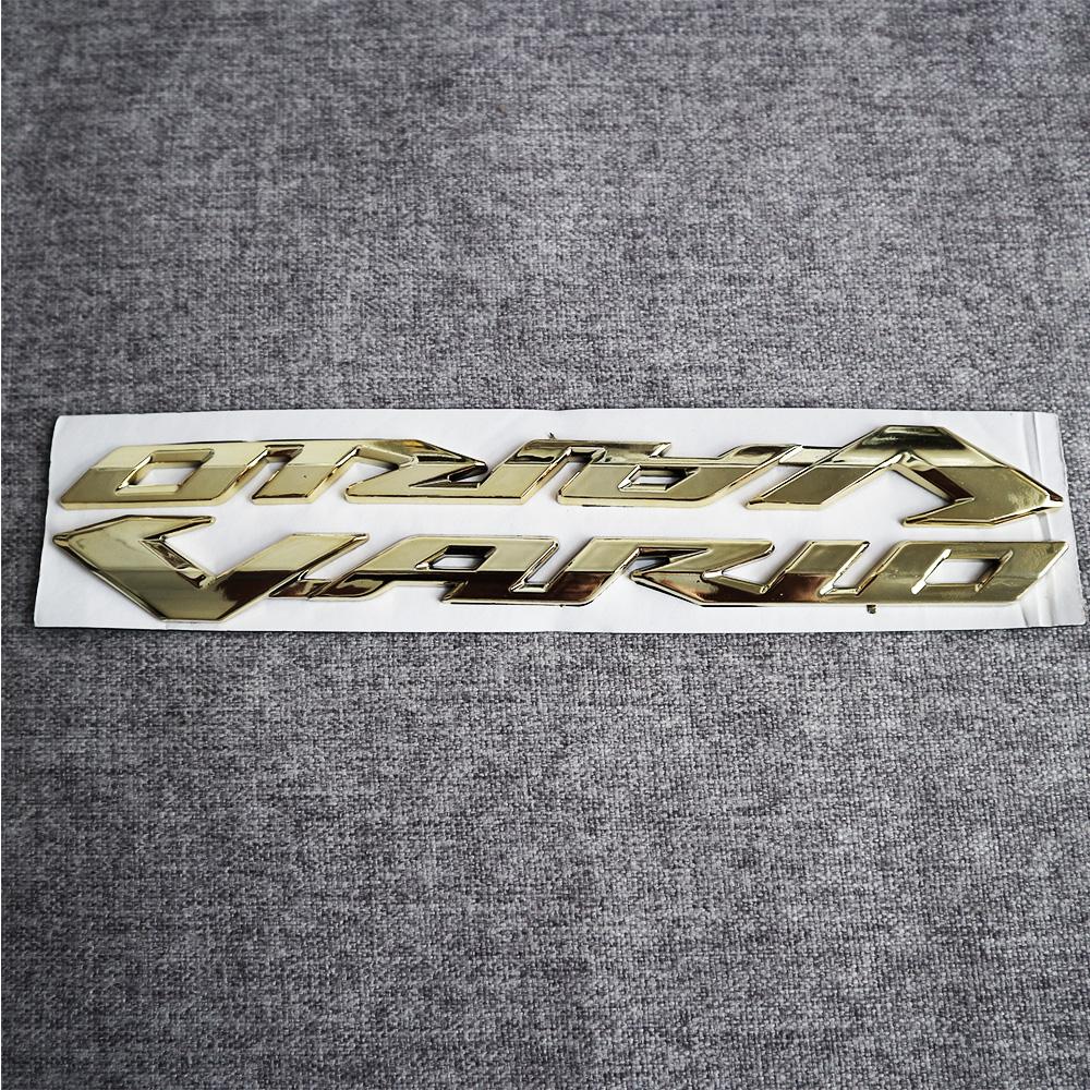 Bộ tem logo chữ nổi dành cho Vario, chất liệu nhựa dẻo si bóng màu vàng