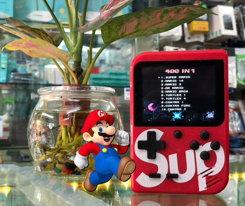 Máy chơi game cầm tay sup 400 in 1 kinh điển ( giao màu ngẫu nhiên)