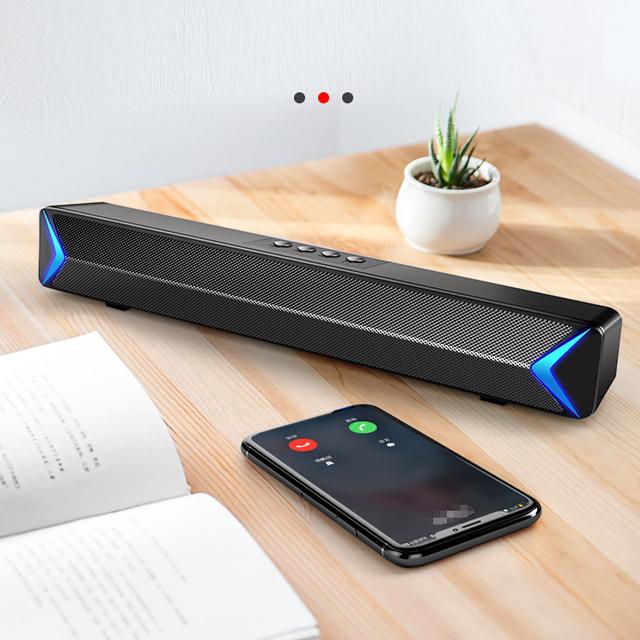 Combo Loa Máy Vi Tính Bluetooth S13, Hỗ Trợ Bluetooth, USB, TF, Jack 3.5mm, Có Đèn Led Sáng 2 Cạnh + Tặng Tai Nghe Chụp Tai CT-770 Cao Cấp