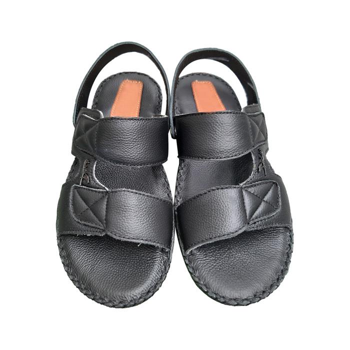 Giày Sandal Nam Da Bò Thật Thời Trang 2 Quai TCF10437