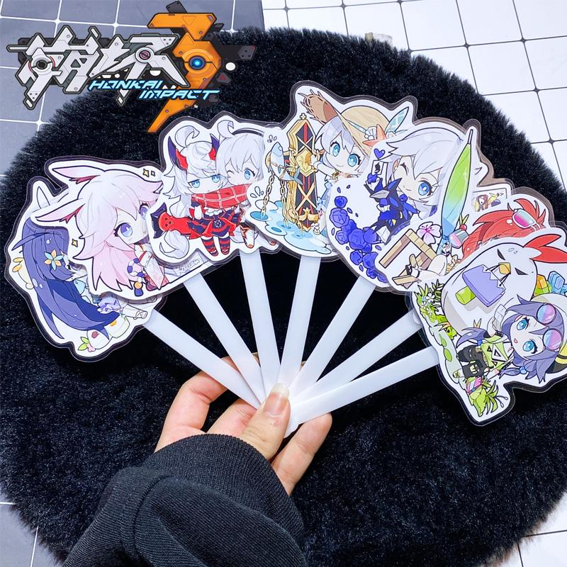 Quạt xòe đầu to anime Honkai Impact 3 ảnh đẹp chibi