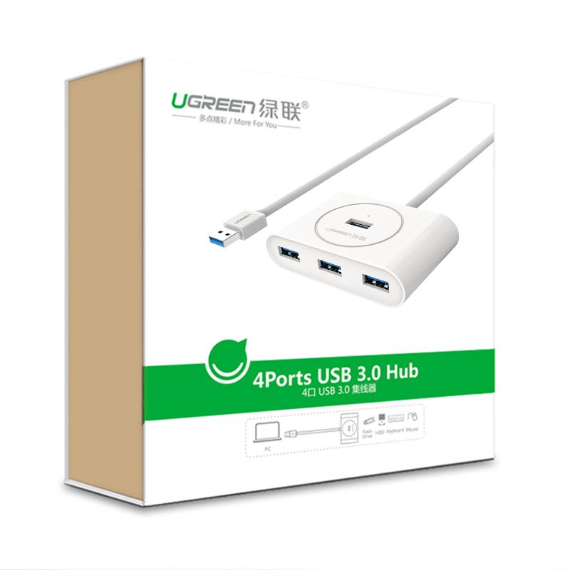 Bộ chia 4 cổng USB 3.0 dài 80cm UGREEN CR113 20283 - Hàng Chính Hãng
