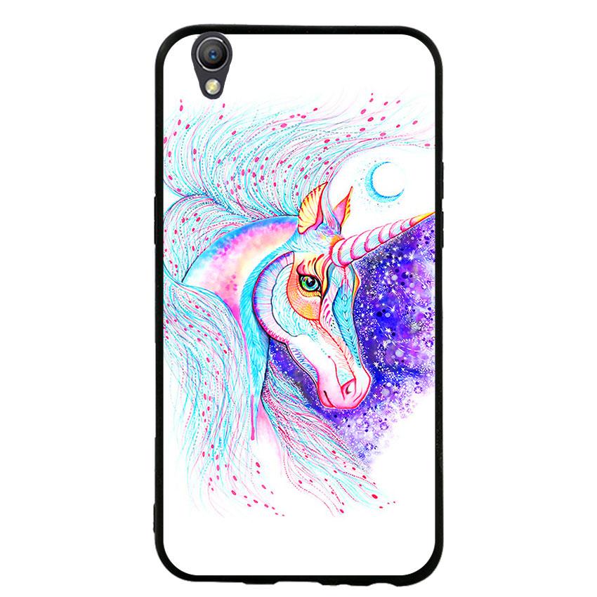 Ốp lưng viền TPU cho điện thoại Oppo Neo 9 - Horse 01