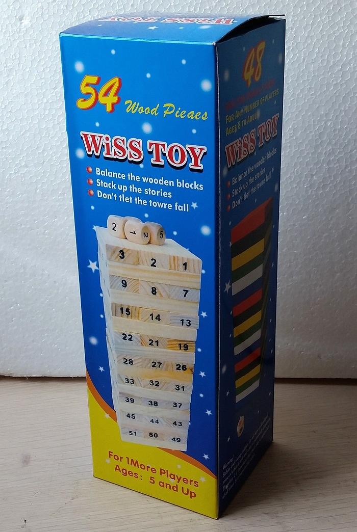 Bộ Đồ Chơi Rút Gỗ Wiss Toy 54 Thanh Cho Bé ( CỠ TO )