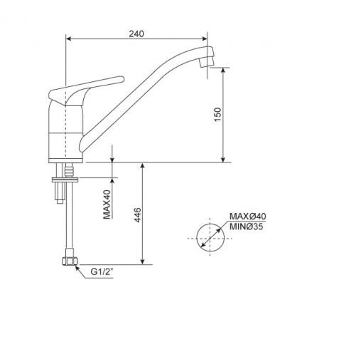 Vòi bếp nóng lạnh American Standard -Ceraplan WF-5637(FFAS5637)