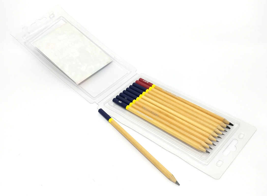 Hộp Nhựa 10 Cây Bút Chì Phát Thảo Thân Gỗ Artist MS-10Pencil