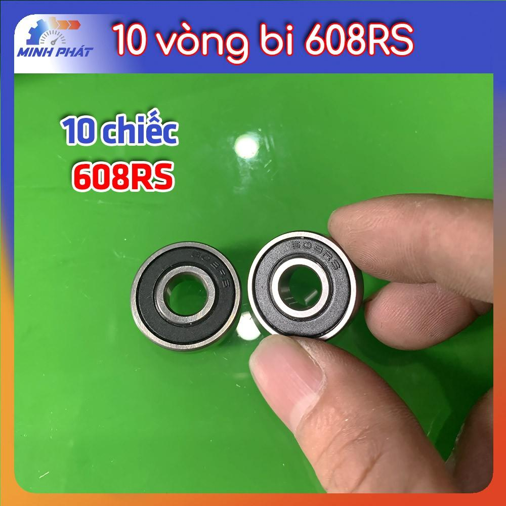 10 cái vòng bi bạc đạn 608RS động cơ hàng tốt
