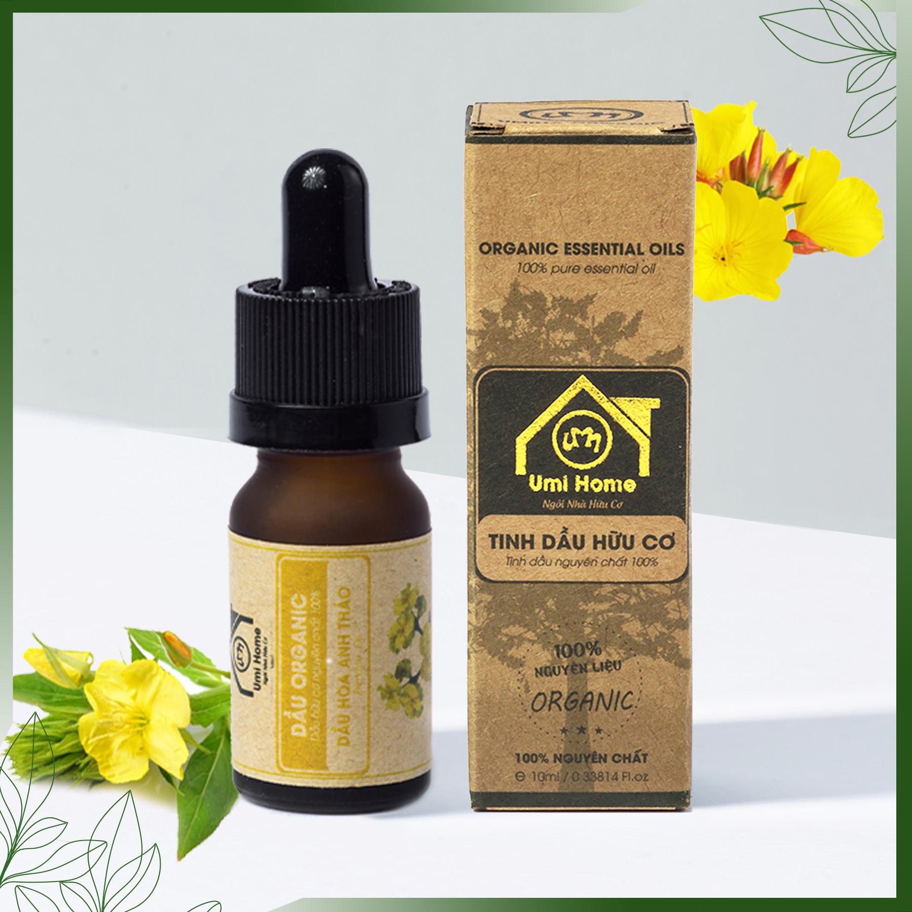 Dầu Hoa Anh Thảo hữu cơ UMIHOME nguyên chất - Evening Primrose oil 10ml