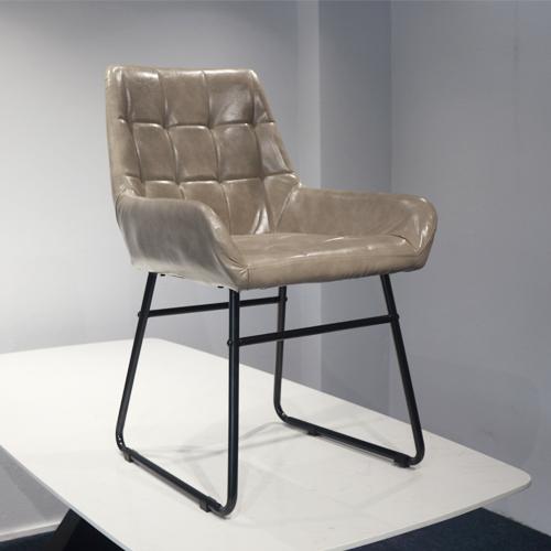 Ghế ăn nhập khẩu đệm da PU chân sắt sơn tĩnh điện 3B6801