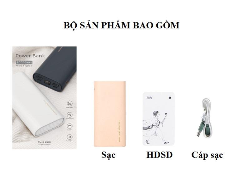 Sạc dự phòng 20000mAh BA0123  - Có 2 cổng sạc USB tiện lợi (Hàng Nhập Khẩu)