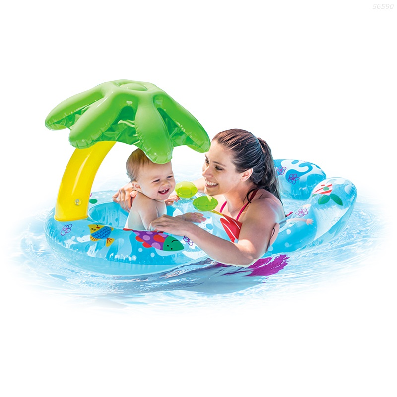 Phao Bơi Đôi Mẹ Và Bé INTEX Có Mái Che  56590