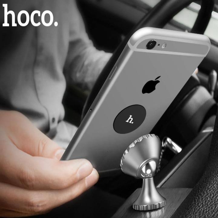 Giá đỡ điện thoại trên ô tô, xe hơi Hoco hút nam châm chắc chắn, lực hút rất khỏe CA9, dán nhanh chóng lên taplo hay kính