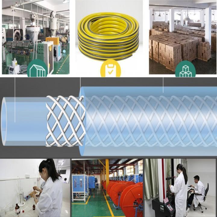 Bộ dây vòi xịt nước rửa xe,tưới cây đa năng,tăng áp 3 lần,loại 7m,10m 206701-3 đầu đồng,cút đồng,nối đ+tặng túi đựng bút
