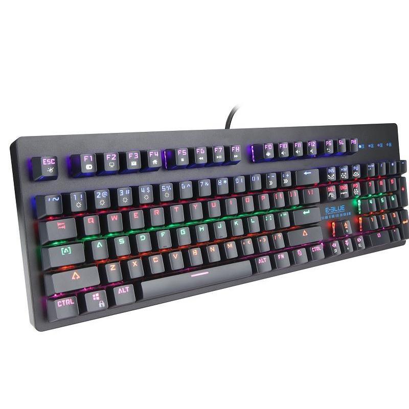 Bàn phím cơ gaming tích hợp Led 7 màu , 104 phím cơ blue switch tiêu chuẩn