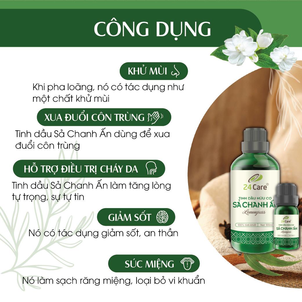 Tinh dầu 24Care 50ml - chiết xuất thiên nhiên, khử mùi thơm phòng, thư giãn tinh thần