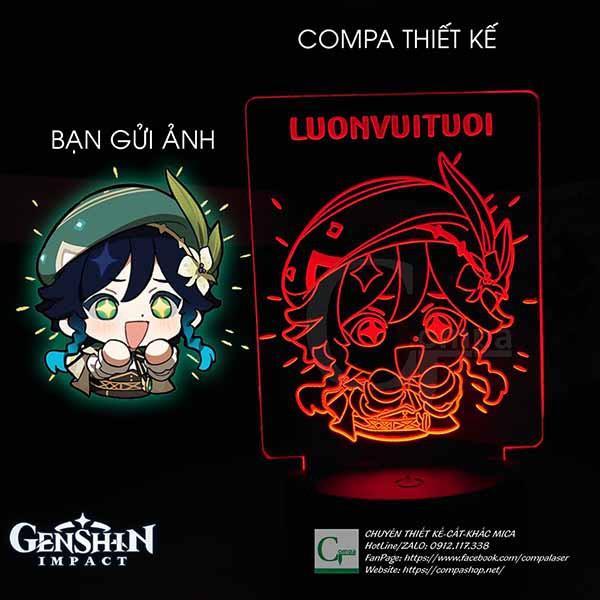 Đèn Ngủ Genshin Impact Venti Chibi Type 02