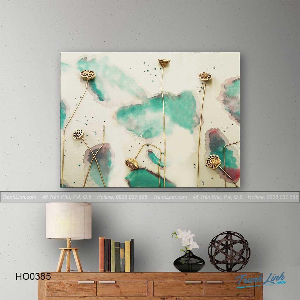 Tranh Canvas hoa treo tường trang trí phòng khách