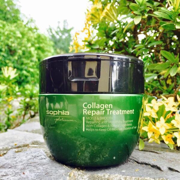 Kem hấp phục hồi tóc Sophia Platium Collagen Hair Repair Treatment Hàn Quốc 450ml tặng kèm móc khoá