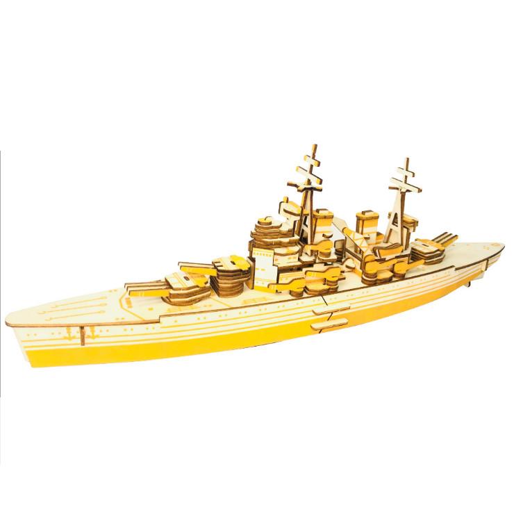 Đồ chơi lắp ghép gỗ 3D Mô hình Tàu chiến HMS Prince of Wales LC-GP216 Laser