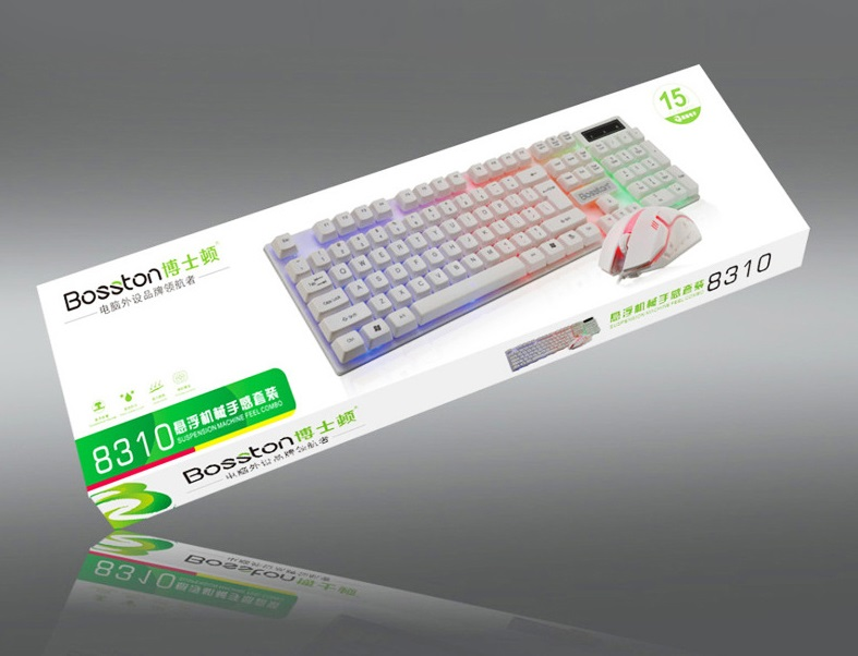 Combo Bàn Phím Kèm Chuột Gaming Led Siêu Ngầu Bosston 8310 - Hàng Chính Hãng