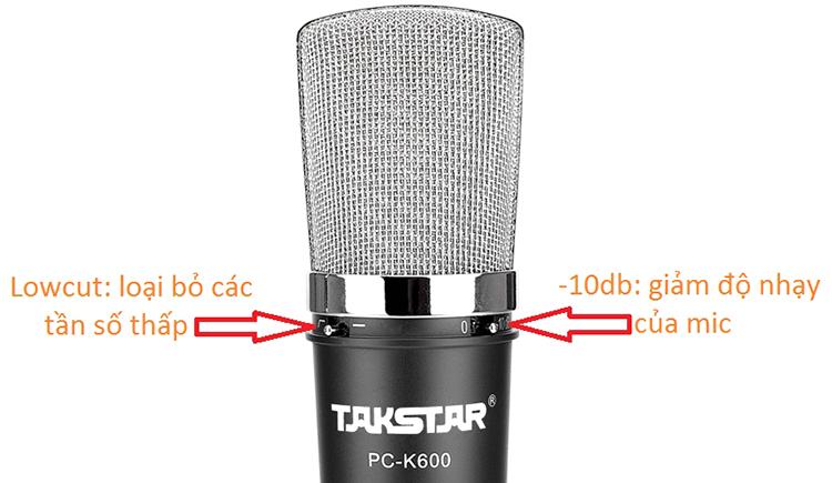 Micro Thu Âm Condenser Takstar PC-K600 (Suite)  - Hàng Chính Hãng