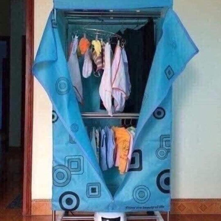 Máy sưởi quần áo dạng tủ thiết kế thông minh sáng tạo
