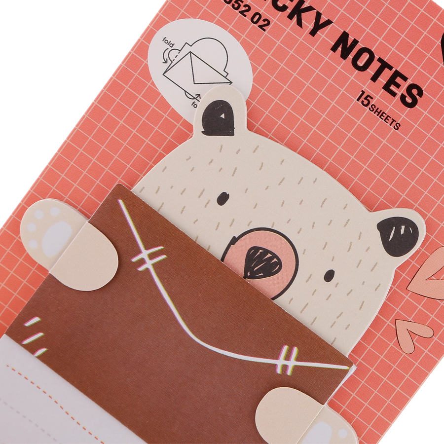 Giấy Notes Hình Deli A55202 - Giao Màu Ngẫu Nhiên